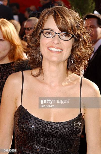 Tina Fey during The 54th Annual Primetime Emmy Awards Arrivals at The Shrine Auditiorium in Los Angeles California United States