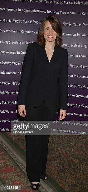 Tina Fey during Women in Communications Matrix Awards Luncheon at the Waldorf Astoria Hotel in New York New York United States