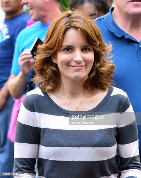 Tina Fey filming on location for '30 Rock' on August 28 2012 in New York City