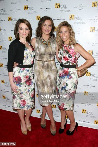 Tina Fey Mariska Hargitay and Sheryl Crow attend New York WOMEN IN COMMUNICATIONS Presents The 2010 MATRIX AWARDS at Waldorf Astoria on April 19 2010...
