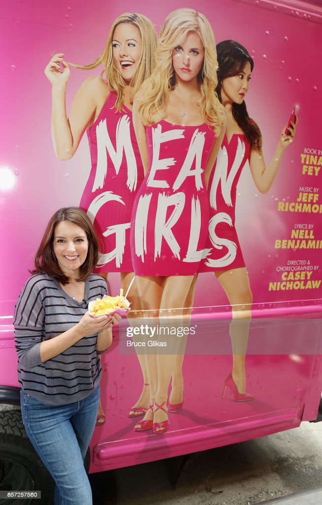 Tina Fey poses at the launch event for the Broadway musical producton of her film 'Mean Girls' at The August Wilson Theatre on October 3, 2017 in New York City.