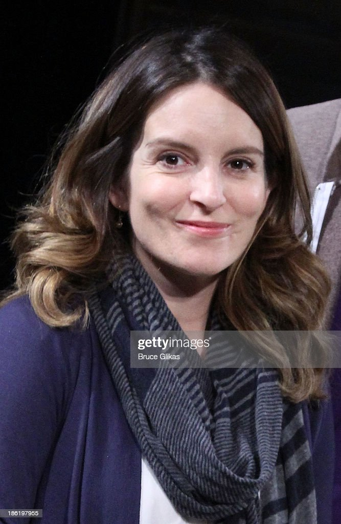 <a gi-track='captionPersonalityLinkClicked' href=/galleries/search?phrase=Tina+Fey&family=editorial&specificpeople=206753 ng-click='$event.stopPropagation()'>Tina Fey</a> poses at The Safe Harbor benefit reading of 'Reckless' at Playwrights Horizons on October 28, 2013 in New York City.
