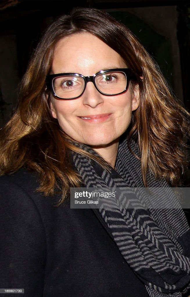 <a gi-track='captionPersonalityLinkClicked' href=/galleries/search?phrase=Tina+Fey&family=editorial&specificpeople=206753 ng-click='$event.stopPropagation()'>Tina Fey</a> poses backstage at 'Cinderella' on Broadway at The Broadway Theater on October 25, 2013 in New York City.