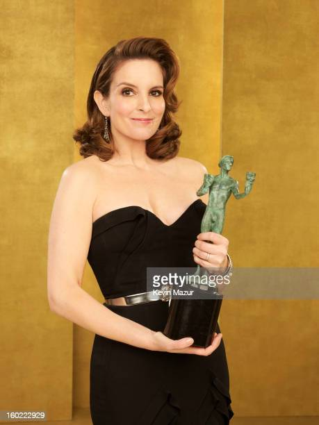 Tina Fey poses during the 19th Annual Screen Actors Guild Awards at The Shrine Auditorium on January 27 2013 in Los Angeles California...