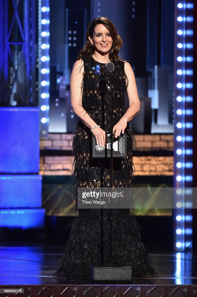 Tina Fey speaks onstage during the 2017 Tony Awards at Radio City Music Hall on June 11, 2017 in New York City.