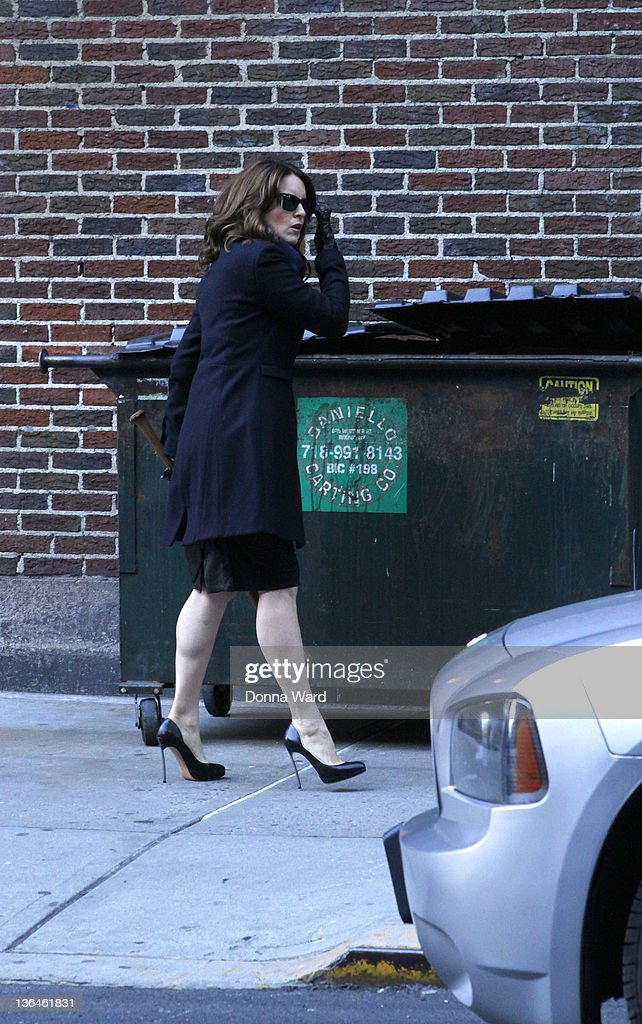 Tina Fey tapes a segment of 'The Late Show with David Letterman' at Ed Sullivan Theater on January 5, 2012 in New York City.