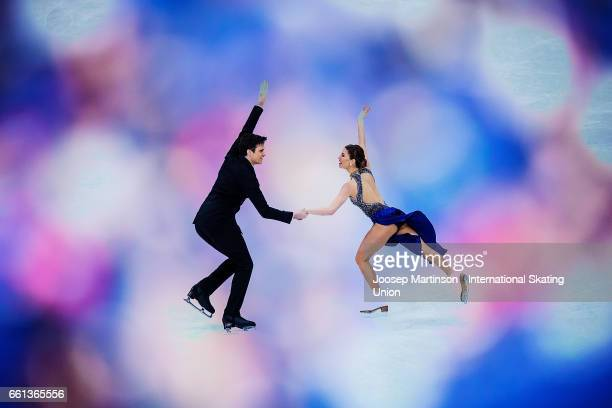 Tina Garabedian and Simon ProulxSenecal of Armenia compete in the Ice Dance Short Dance during day three of the World Figure Skating Championships at...