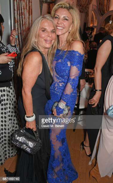 Tina Green and Lisa Tchenguiz attend the de Grisogono 'Love On The Rocks' party during the 70th annual Cannes Film Festival at Hotel du CapEdenRoc on...