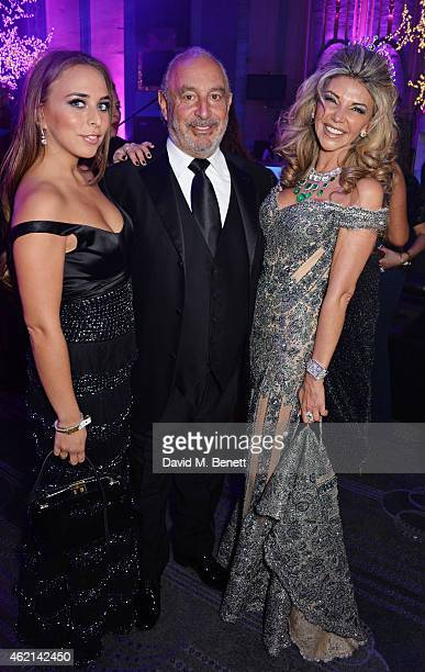Tina Green Sir Philip Green and Lisa Tchenguiz attend Lisa Tchenguiz's 50th birthday party at the Troxy on January 24 2015 in London England