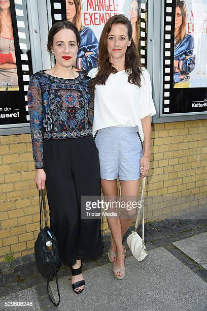 Tina Henkel and Anja Knauer attend the 'Maengelexemplar' German Premiere on May 09 2016 in Berlin Germany