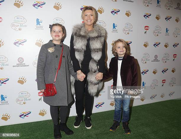 Tina Hobley and children Isabella and Orson attend a screening of We're Going on a Bear Hunt at the Empire Leicester Square in central London
