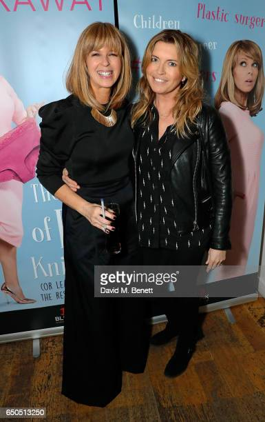 Tina Hobley and Kate Garraway attend the launch of Kate Garraway's new book 'The Joy Of Big Knickers ' at Waterstones Piccadilly on March 9 2017 in...