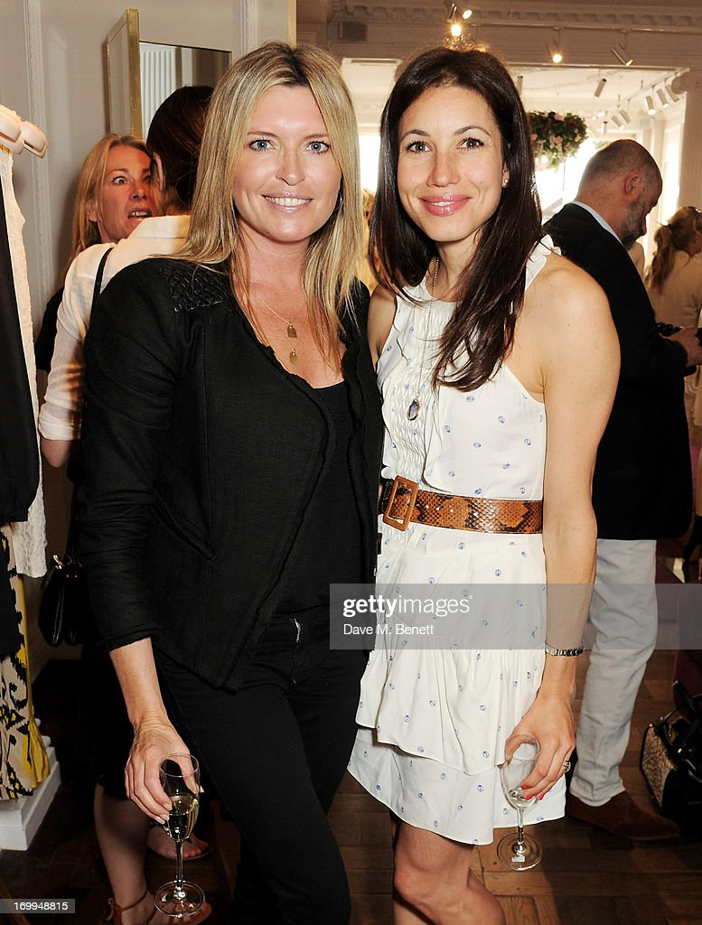 Tina Hobley (L) and Lauren Kemp attend the Salon Tea hosted by Alice Temperley and Yasmin Mills at Temperley London on June 4, 2013 in London, England.