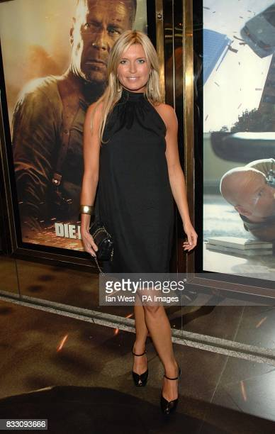 Tina Hobley arrives for the UK Premiere of Die Hard 40 at The Empire Cinema in Leicester Square central London