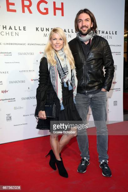 Tina Kaiser and her boyfriend Max Wiedemann during the Peter Lindbergh exhibition 'From Fashion to Reality' at Kunsthalle der HypoKulturstiftung on...