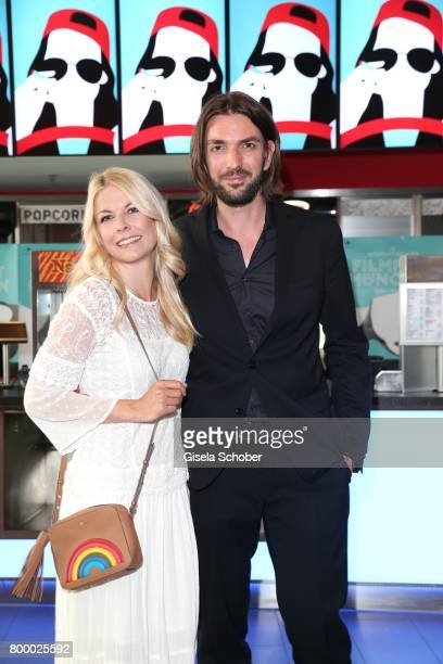 Tina Kaiser and her partner producer Max Wiedemann during the opening night of the Munich Film Festival 2017 at Mathaeser Filmpalast on June 22 2017...