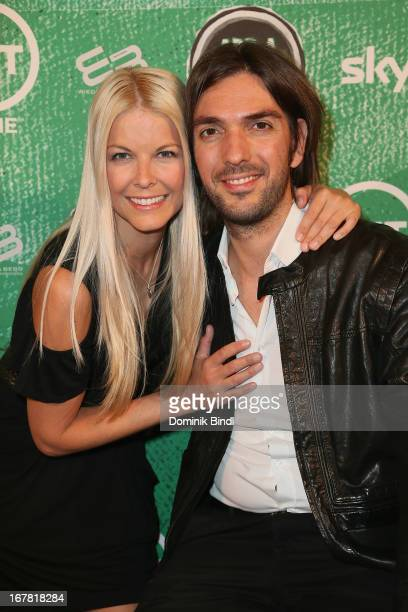 Tina Kaiser and Max Wiedemann attend 'Add a Friend' Preview Event of TNT Serie at Bayerischer Hof on April 30 2013 in Munich Germany The second...