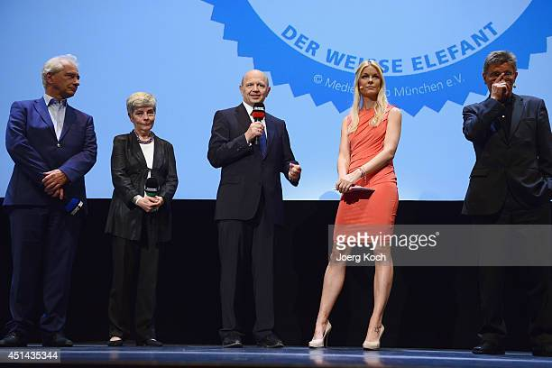 Tina Kaiser and the jury attend 'DER WEISSE ELEFANT' Event at Gasteig on June 29 2014 in Munich Germany