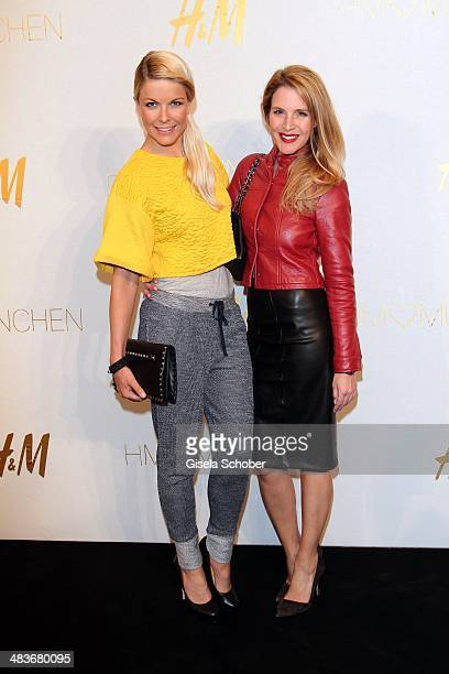 Tina Kaiser and Viola Weiss attend the HM store opening on April 9 2014 in Munich Germany