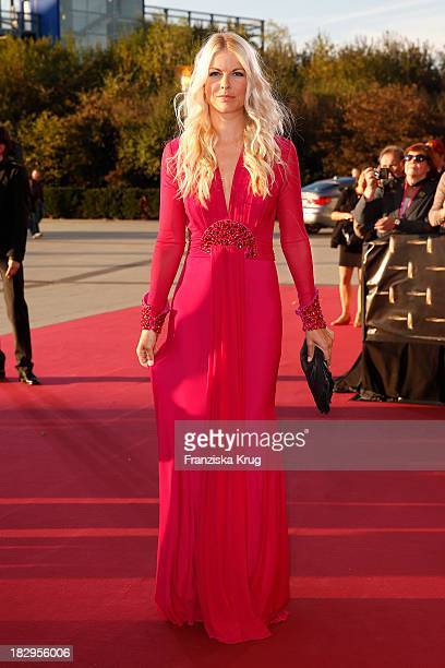 Tina Kaiser attends the Deutscher Fernsehpreis 2013 Red Carpet Arrivals at Coloneum on October 02 2013 in Cologne Germany