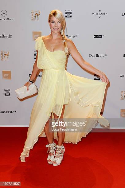 Tina Kaiser attends the Red Carpet for the Bambi Award 2011 ceremony at the RheinMainHallen on November 10 2011 in Wiesbaden Germany