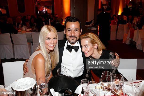 Tina Kaiser Erol Sander and his wife Caroline Sander attend the German Film Ball 2014 on January 18 2014 in Munich Germany