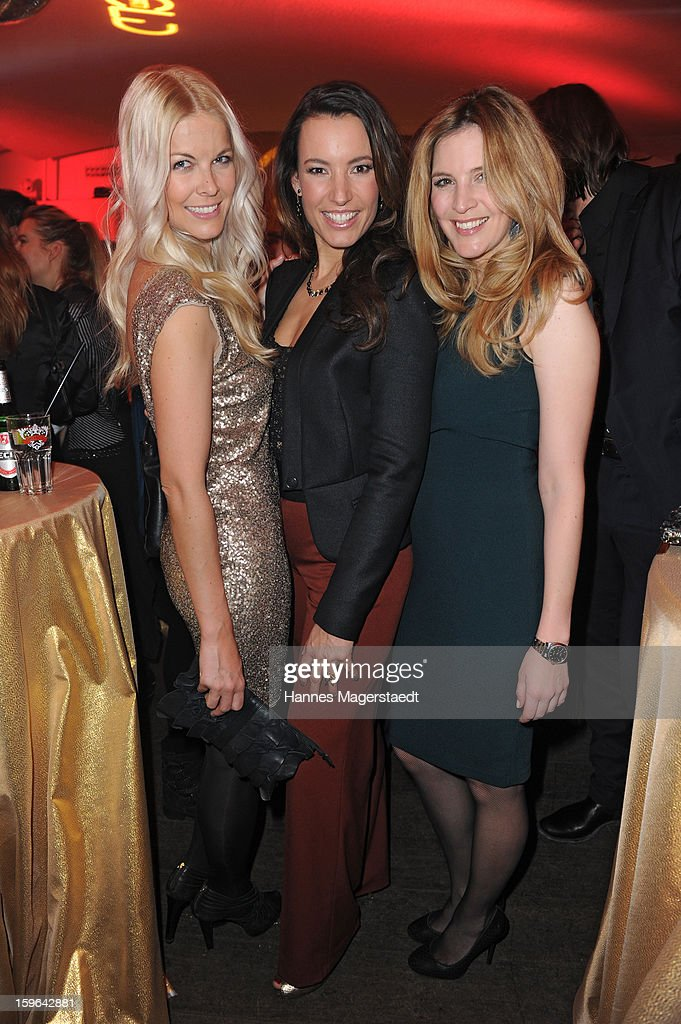 Tina Kaiser, Kim Heinzelmann and Viola Weiss attend the Sat.1 GOLD TV Channel Launch at the Filmcasino on January 17, 2013 in Munich, Germany.