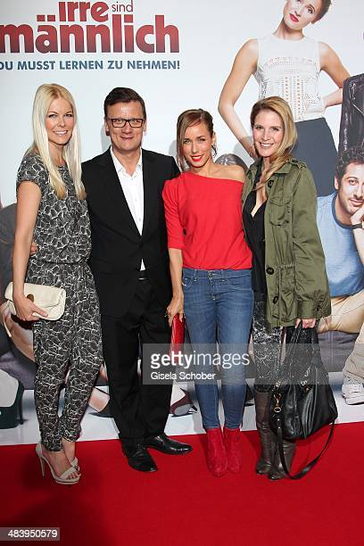 Tina Kaiser Torsten Koch Annemarie Carpendale Viola Weiss attend the premiere of the film 'Irre sind maennlich' at Mathaeser Filmpalast on April 10...