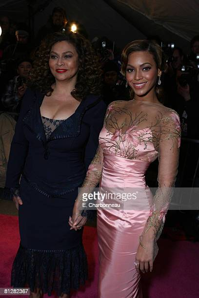 Tina Knowles and Beyonce Knowles
