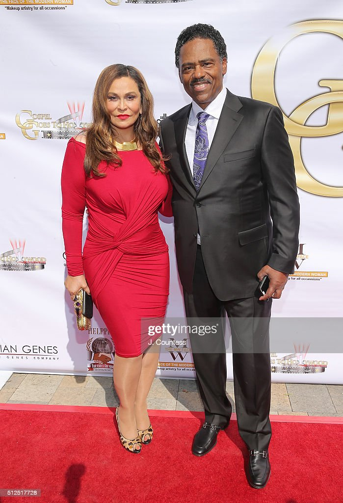 Tina Knowles and honoree Richard Lawson attend the Gospel Goes To Hollywood celebration at Vibiana on February 26 2016 in Los Angeles California