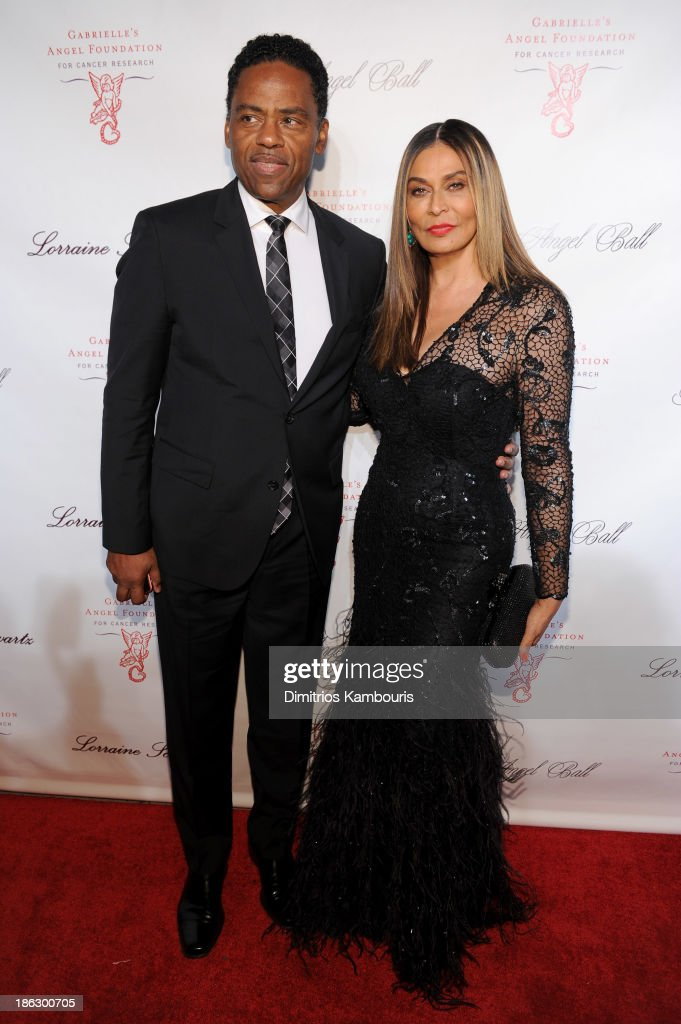 <a gi-track='captionPersonalityLinkClicked' href=/galleries/search?phrase=Tina+Knowles+-+Fashion+Designer&family=editorial&specificpeople=216560 ng-click='$event.stopPropagation()'>Tina Knowles</a> (R) attends Gabrielle's Angel Foundation Hosts Angel Ball 2013 at Cipriani Wall Street on October 29, 2013 in New York City.