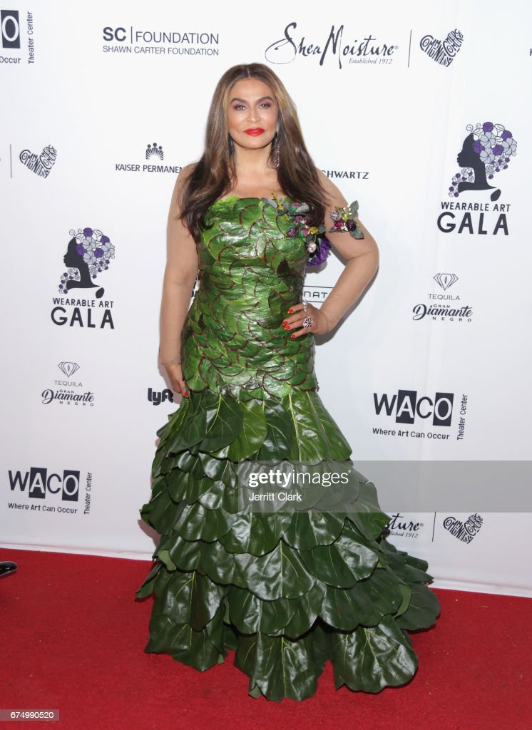 Tina Knowles attends the Wearable Art Gala at California African American Museum on April 29, 2017 in Los Angeles, California.
