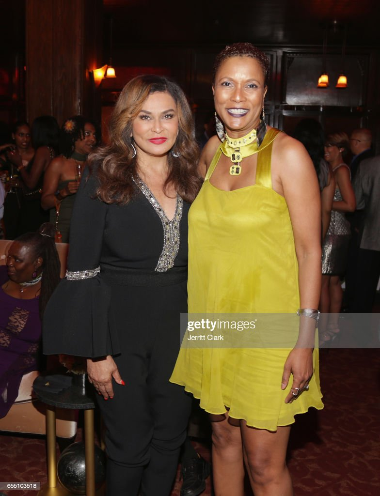 Tina Knowles Lawson and Producer Rachel Frazier Johnson, ESQ attend Vanessa Bell Calloway's 60th Birthday Bash at Cicada on March 18, 2017 in Los Angeles, California.