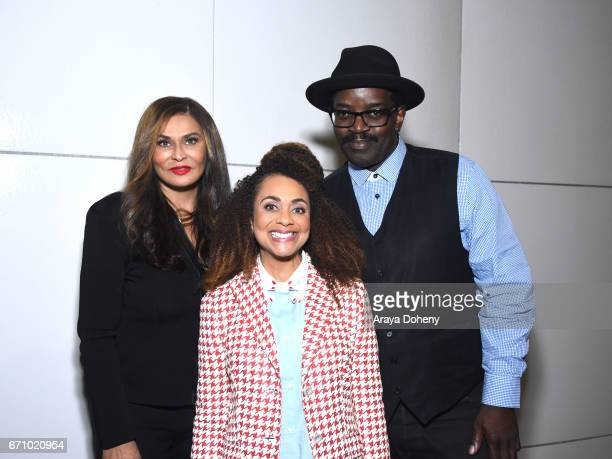 Tina Knowles Lisa Horowitz and Fab 5 Freddy attend the Film Independent at LACMA Special Screening and QA of 'The Life Of Henrietta Lacks' at Bing...