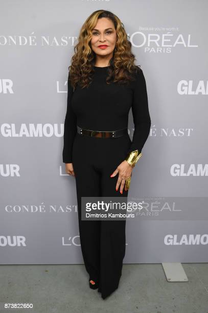 Tina Knowles poses backstage at Glamour's 2017 Women of The Year Awards at Kings Theatre on November 13 2017 in Brooklyn New York