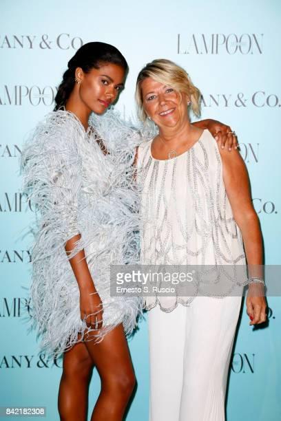 Tina Kunakey and Raffaella Banchero attend Keep On Shining Party Tiffany and Co For Lampoon Magazine at Conservatorio Di Venezia on September 2 2017...