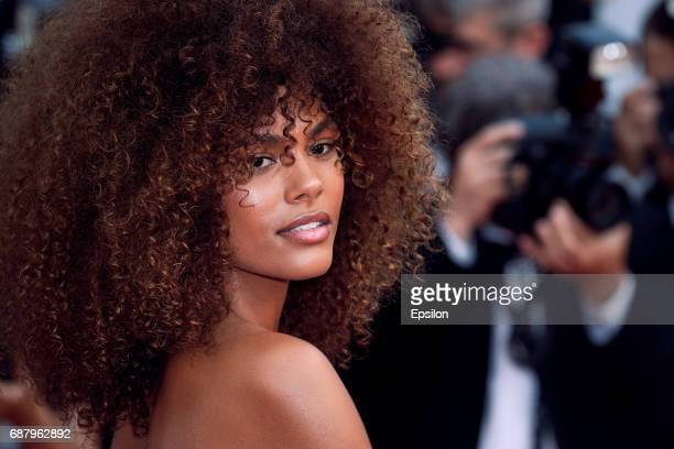 Tina Kunakey attends attends the 'The Beguiled' screening during the 70th annual Cannes Film Festival at Palais des Festivals on May 24 2017 in...