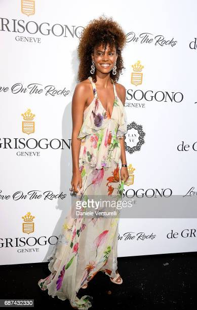 Tina Kunakey attends the De Grisogono 'Love On The Rocks' party during the 70th annual Cannes Film Festival at Hotel du CapEdenRoc on May 23 2017 in...