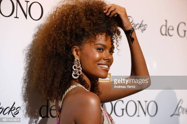 Tina Kunakey attends the DeGrisogono 'Love On The Rocks' during the 70th annual Cannes Film Festival at Hotel du CapEdenRoc on May 23 2017 in Cap...