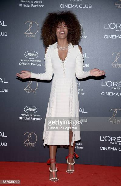 Tina Kunakey attends the Gala 20th Birthday Of L'Oreal In Cannes during the 70th annual Cannes Film Festival at Martinez Hotel on May 24 2017 in...