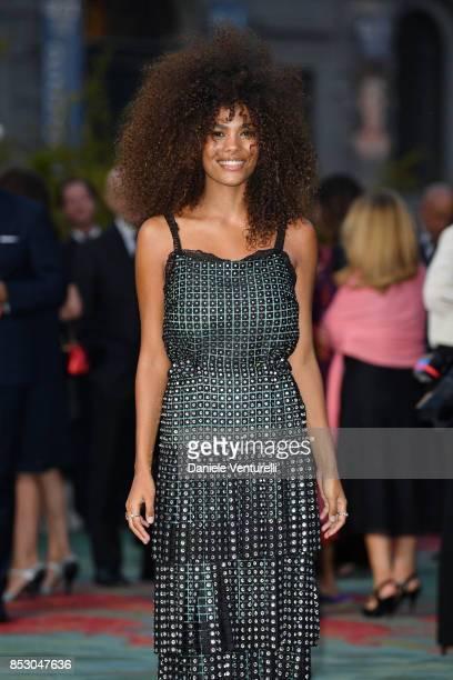 Tina Kunakey attends the Green Carpet Fashion Awards Italia 2017 during Milan Fashion Week Spring/Summer 2018 on September 24 2017 in Milan Italy