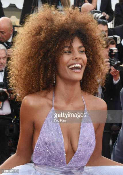 Tina Kunakey attends the'The Beguiled' screening during the 70th annual Cannes Film Festival at Palais des Festivals on May 24 2017 in Cannes France
