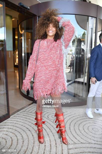 Tina Kunakey is spotted at Hotel Martinez during the 70th annual Cannes Film Festival at on May 23 2017 in Cannes France