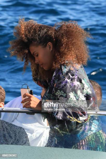 Tina Kunakey is spotted during the 70th annual Cannes Film Festival at on May 20 2017 in Cannes France