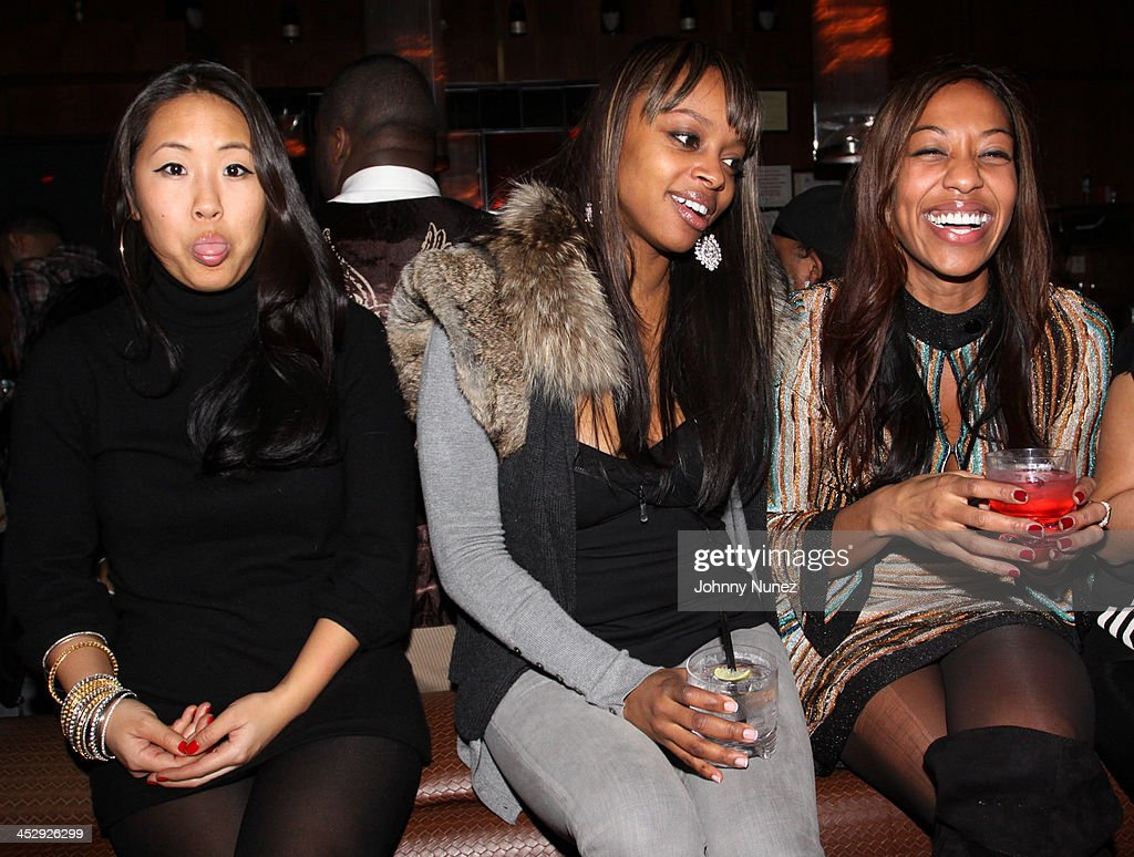 Tina Lee, Keesha Johnson, and Sari Baez attend Sari Baez's Birthday celebration at Marquee on November 30, 2009 in New York City.