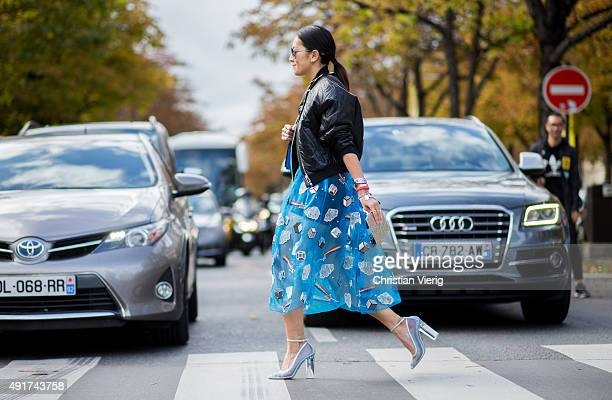 Tina Leung at Miu Miu during the Paris Fashion Week Womenswear Spring/Summer 2016 on Oktober 7 2015 in Paris France