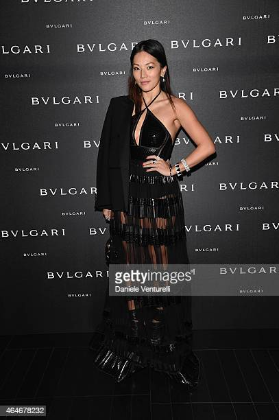 Tina Leung attends the Bulgari Fall/Winter 2015 Accessories Presentation during the Milan Fashion Week Autumn/Winter 2015 on February 27 2015 in...