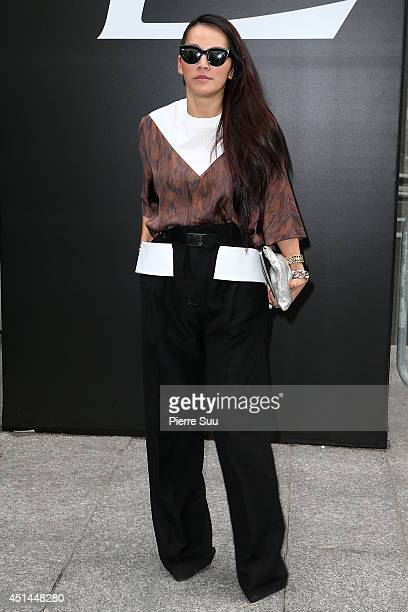 Tina Leung attends the Saint Laurent show as part of the Paris Fashion Week Menswear Spring/Summer 2015 on June 29 2014 in Paris France