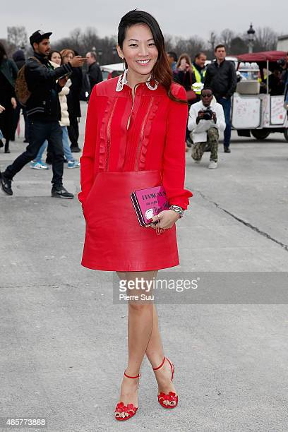 Tina Leung attends the Valentino show as part of the Paris Fashion Week Womenswear Fall/Winter 2015/2016 on March 10 2015 in Paris France