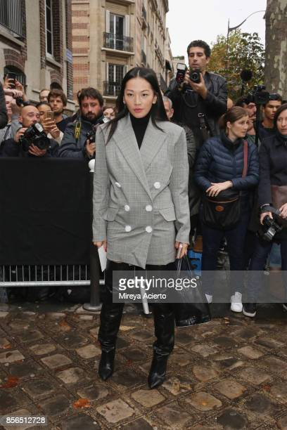 Tina Leung attends the Valentino show as part of the Paris Fashion Week Womenswear Spring/Summer 2018 on October 1 2017 in Paris France